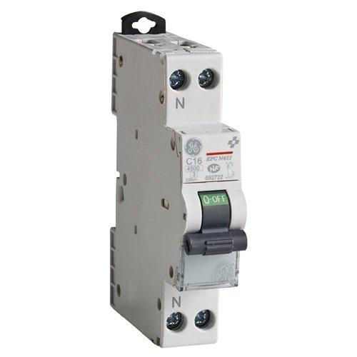 Disjoncteurs Phase + Neutre UNIBIS Série EPC N451 Courbe C - EN 60898-1/4.5kA - EN 60947-2/6kA