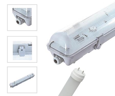 Ensemble Boitier Etanche avec Tube LED T8 1X120
