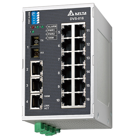 Switch Ethernet industriel non manageable 16x10/100TX