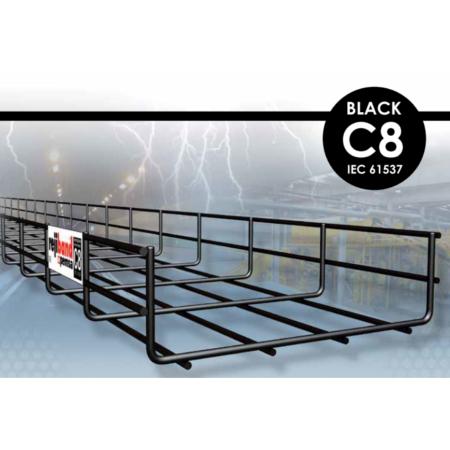 Chemins de câble rejiband Black C8