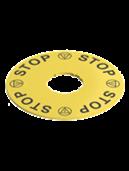 Plaquette disque jaune pour boîte Série E2