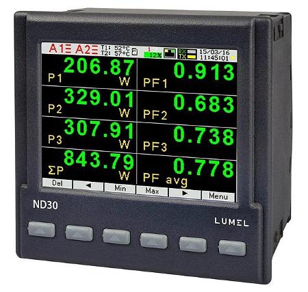 LUMEL: Centrale de mesure de puissance ND30