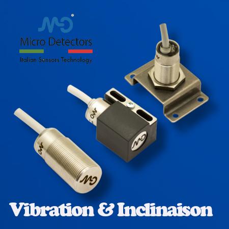 MICRO DETECTOR: Capteur Inclinaison Vibration